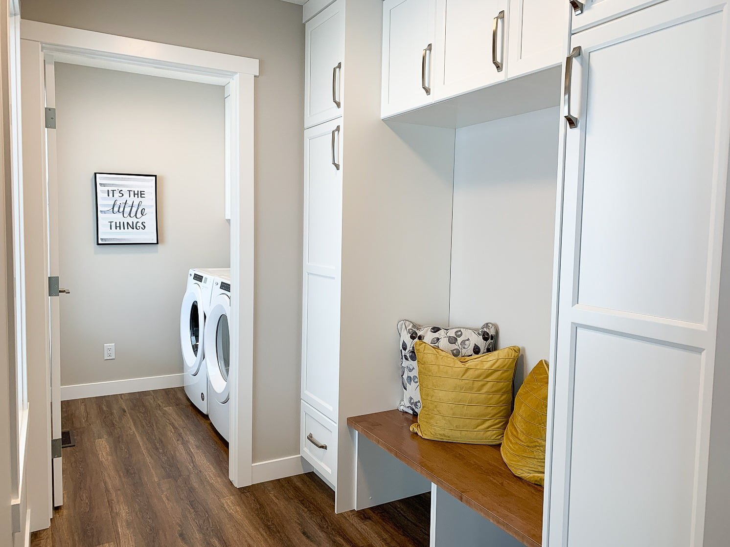 laundry room in a pre built ready to move home by nelson homes.jpg